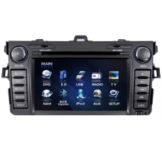 Toyota Corolla GPS Car DVD Player with Digital Screen iPod RDS
