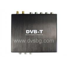 DVB-T MPEG4 H.264 Digital TV tuner 12v 24v Автомобилен телевизионен тунер  Audio Video входове и изходи -Вход за камера за заден ход Moдел:dvbt-h2