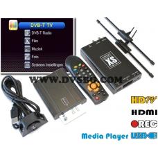 Двоен DVB-T Тунер tuner USB MPEG4 Автоматична честота на превключване REC, AV-RGB OUTPUT