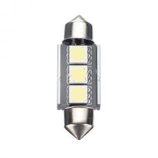 36mm CANBUS Error Free 3 LED 5050SMD 6418 C5W Light Bulb за плафон