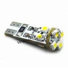 Габаритни диоди 8 LED Pure White Canbus система Non error interior light Car W5W 502 Light Bul