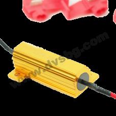 Резистор на товар за габаритни светлини Load Resistor Fix LED Bulb Fast Flash Turn Signal Blink 50W 6RJ