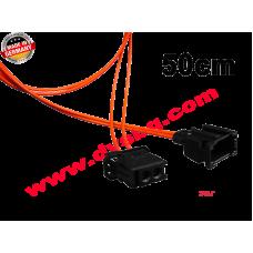 Оптичен кабел 0.50 м. с букси-преходници Fiber optic extension - cable 0.5m MOS-EXT050
