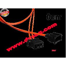 Оптичен кабел 0.80см. с букси-преходници Fiber optic extension - cable 0.8m MOS-EXT080