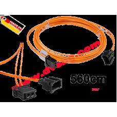 Оптичен кабел 5.6м. с букси-преходници Fiber optic extension - cable 5.6m MOS-EXT560
