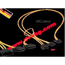 Оптични кабели с букси и преходници за допълнително устройство вид - Y 0.8м fiber optic Y distributor MOS-Y