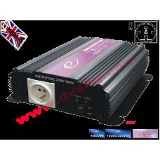 Преобразувател Инвертор за кола от 12V на 220V 1000W DC към AC 12V-230V Converter DC to AC - input DC 12V output AC 230V 1000W 12V-220V SP1000-12V
