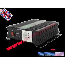 Преобразувател Инвертор за кола от 12V на 220V 600W DC към AC 12V-220V Converter DC to AC - input DC 12V output AC 230V 600W 12V-220V SP600-12V