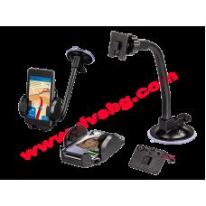 Универсален холдер стойка за смартфон-таблет за стъкло 4-11см HAMA 89481