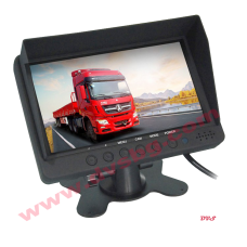 Монитор за Бусове Каравани Автобуси Камиони и за камера 7 инча TFT Дисплей 16:9 12V - 24V CAR MONITOR TFT M07